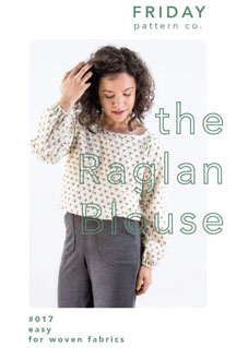 digital raglan blouse sewing pattern