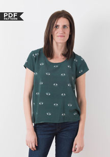digital scout woven t-shirt sewing pattern