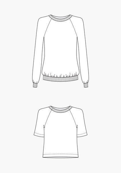 Digital Linden Sweatshirt Sewing Pattern | Shop | Oliver + S