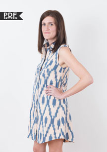 digital alder shirtdress sewing pattern