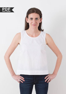 digital willow tank + dress sewing pattern