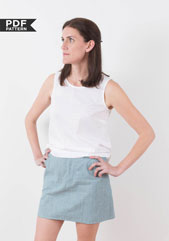 digital moss skirt sewing pattern