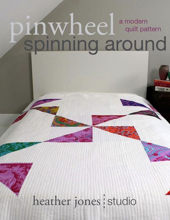 Digital Pinwheel Spinning Around Quilt Sewing Pattern Shop
