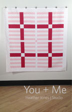 digital you + me quilt sewing pattern