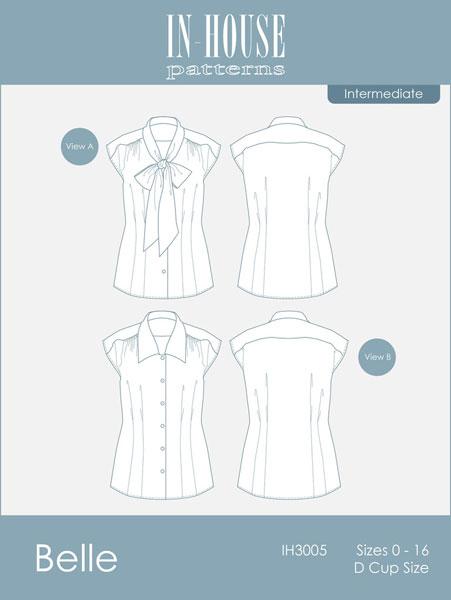 Digital Belle Bow Blouse Sewing Pattern Shop Oliver S