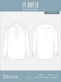 digital diana blouse sewing pattern