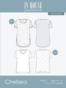 digital chelsea blouse sewing pattern