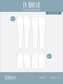 digital ellen pants + shorts sewing pattern