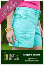 digital angelia shorts sewing pattern