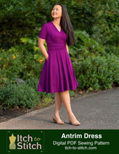 digital antrim dress sewing pattern