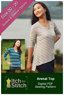 digital arenal top sewing pattern