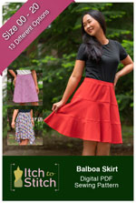 digital balboa skirt sewing pattern
