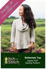 digital bellavista top sewing pattern