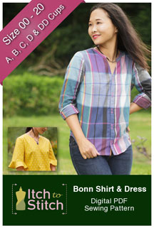 digital bonn shirt + dress sewing pattern