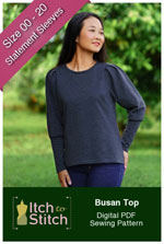 digital busan top sewing pattern