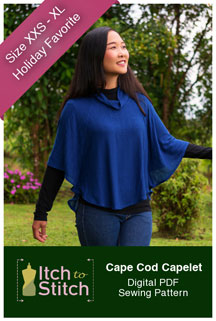 digital cape cod capelet sewing pattern
