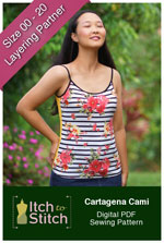 digital cartagena cami sewing pattern