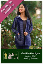 digital castillo cardigan sewing pattern