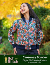 digital causeway bomber jacket sewing pattern