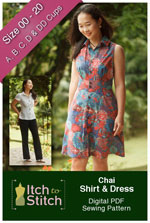digital chai shirt + dress sewing pattern