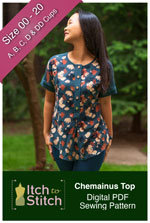 digital chemainus top sewing pattern