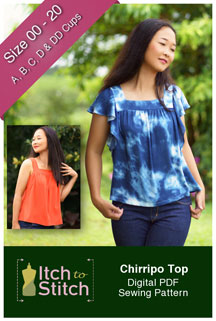 digital chirripo top sewing pattern
