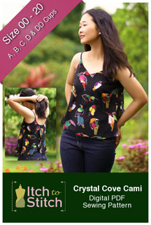 digital crystal cove cami sewing pattern