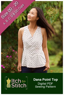 digital dana point top sewing pattern