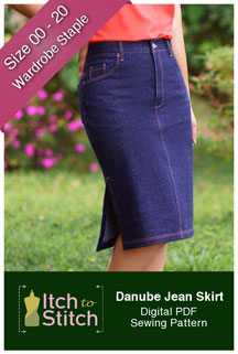 digital danube jean skirt sewing pattern