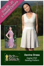 digital davina dress sewing pattern