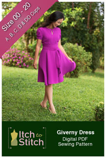digital giverny dress sewing pattern