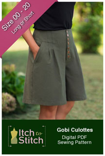 digital gobi culottes sewing pattern