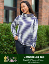 digital gothenburg top sewing pattern