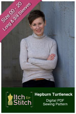 digital hepburn turtleneck sewing pattern