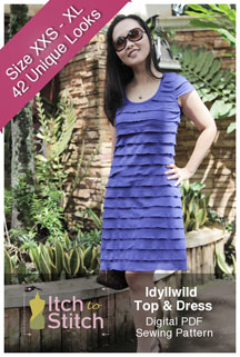 digital idyllwild top + dress sewing pattern