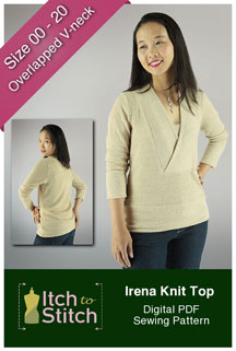 digital irena knit top sewing pattern