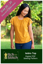 digital isidro top sewing pattern
