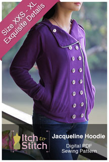 digital jacqueline hoodie sewing pattern