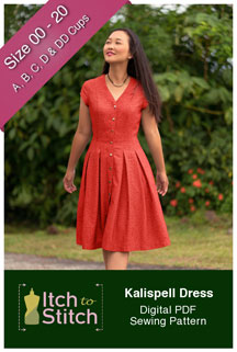 digital kalispell dress sewing pattern