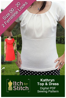 digital kathryn top + dress sewing pattern