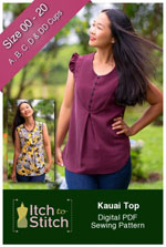 digital kauai top sewing pattern