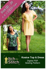 digital kosice top + dress sewing pattern