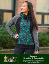 digital lamma hoodie + sweatshirt sewing pattern