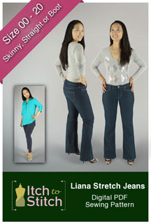 digital liana stretch jeans sewing pattern