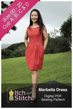 digital marbella dress sewing pattern