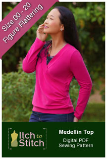 digital medellin top sewing pattern