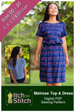 digital melrose top + dress sewing pattern