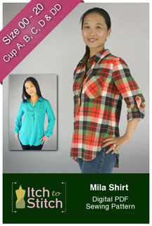 digital mila shirt sewing pattern