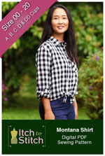 digital montana shirt sewing pattern