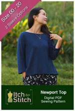 digital newport top sewing pattern